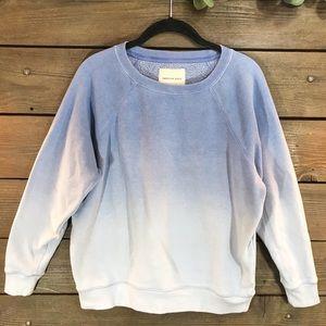 American Eagle Ombré Blue Sweatshirt Small